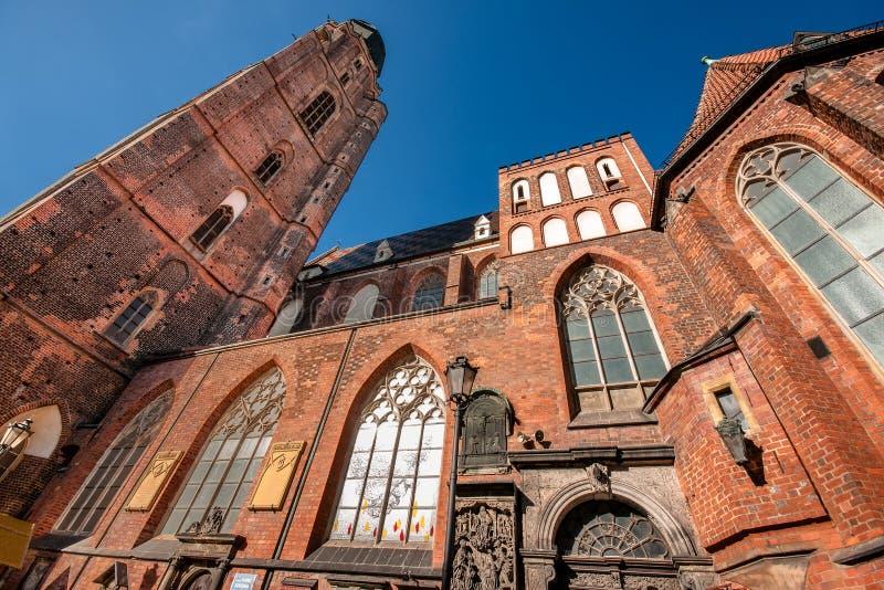 St Elisabeth kościół na głównym miasto kwadracie w Wrocławskim fotografia royalty free
