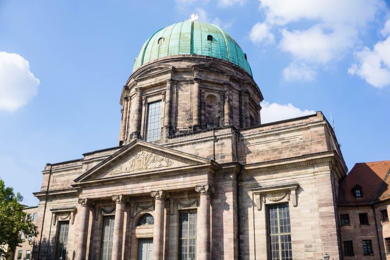 St Elisabeth kościół w Nuremberg bavaria Niemcy fotografia stock