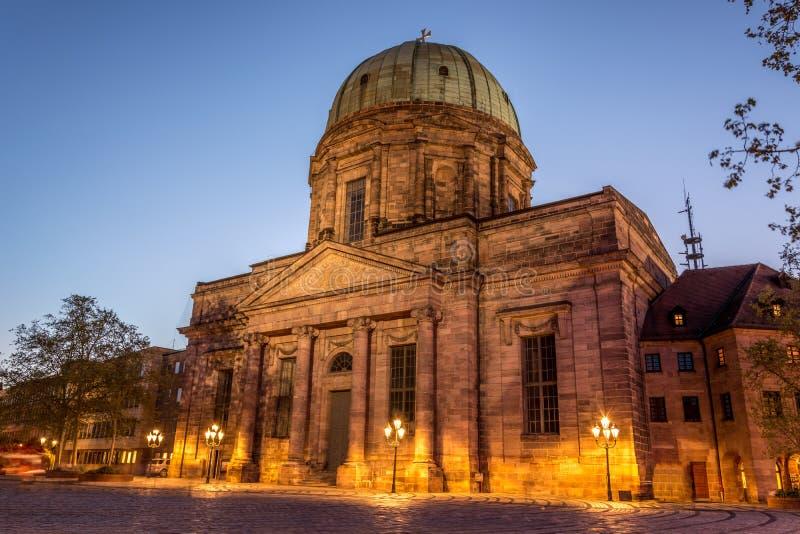 St Elisabeth kościół w starym miasteczku Nuremberg, Niemcy zdjęcie royalty free