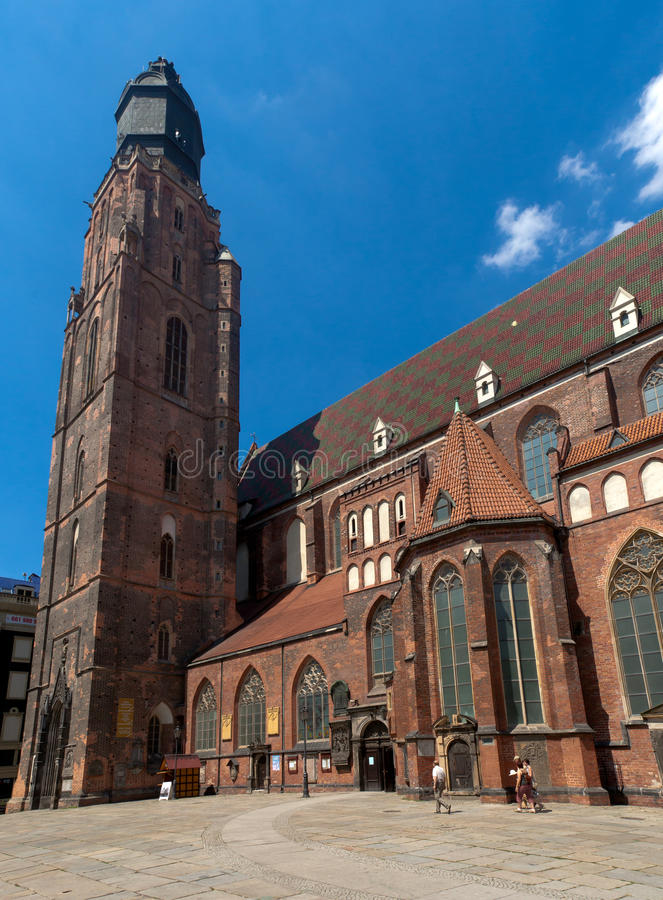 St. Elisabeth's Church, Wrocław stock image
