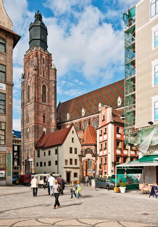 Download St. Elisabeth's Church In Wroclaw With Editorial Stock Image - Image: 20260894
