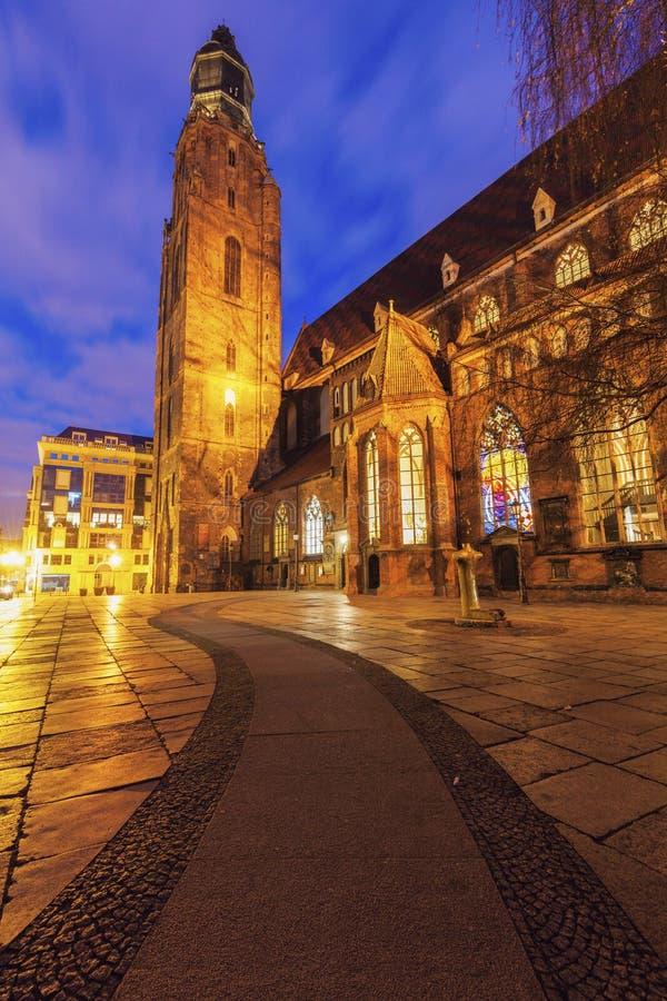 St Elisabeth ` s kościół w Wrocławskim zdjęcia stock