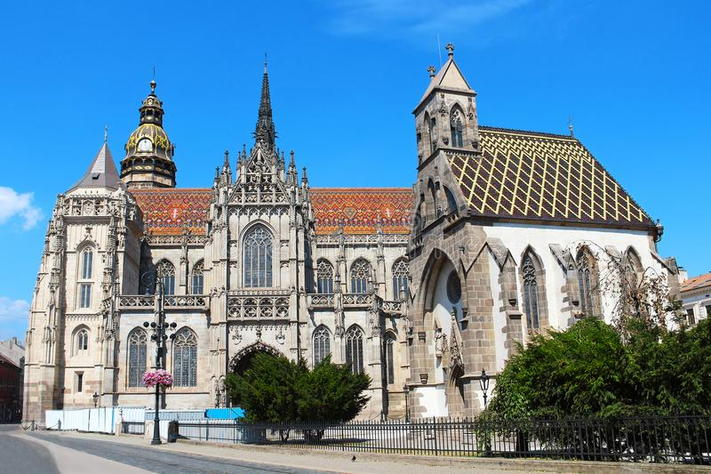 St Elizabeth Cathedral, Kosice, Slovacchia immagini stock libere da diritti
