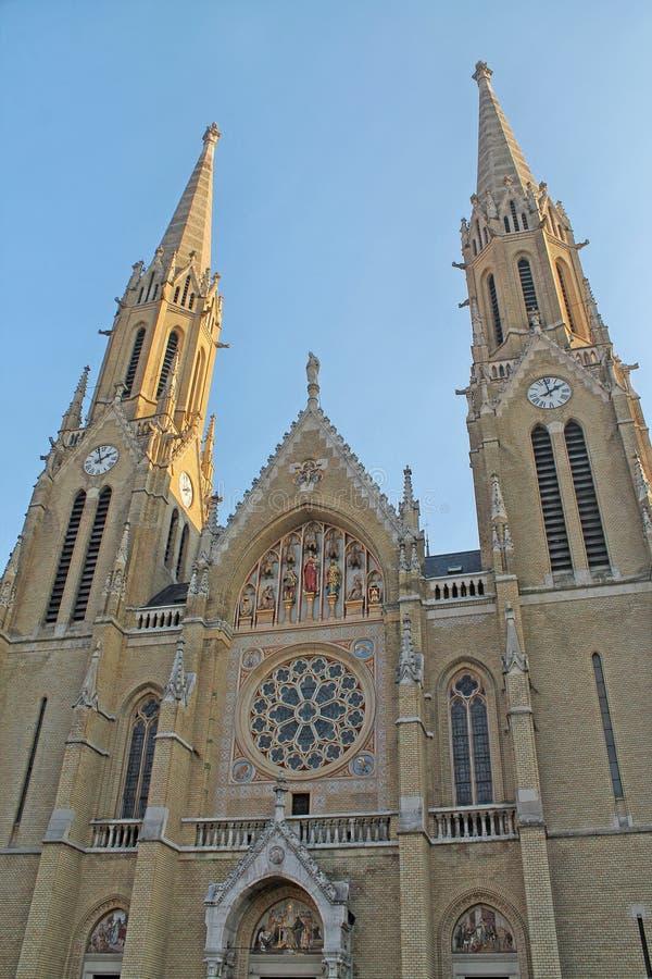 St Elizabeth Kerk in Boedapest Hongarije stock foto's