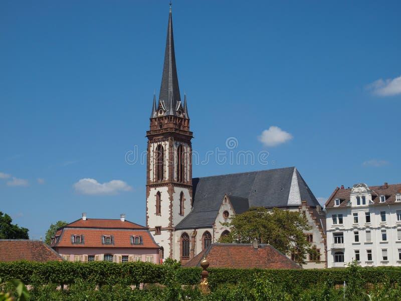 St Elizabeth kerk in Darmstadt stock afbeelding