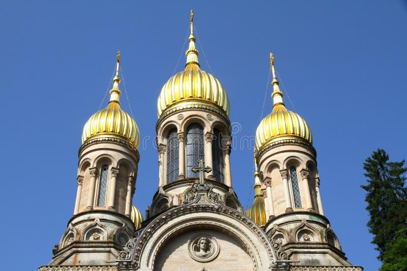 St. Elizabeth Kerk (Wiesbaden) royalty-vrije stock foto's