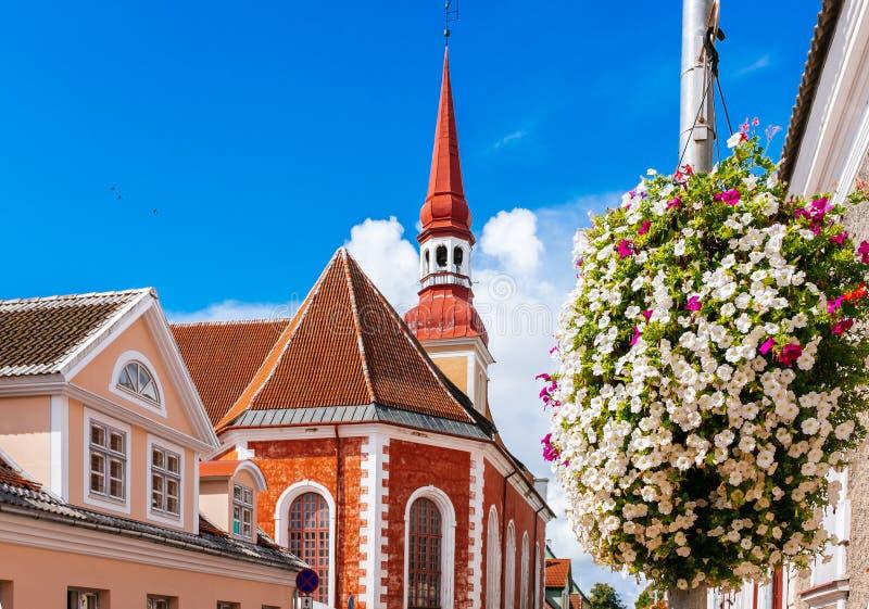 St. Elizabeth's Church in Parnu, Estonia. St. Elizabeth's Lutheran Church in Parnu, Estonia named after russian empress Elizabeth abd built in 1741 AD stock images
