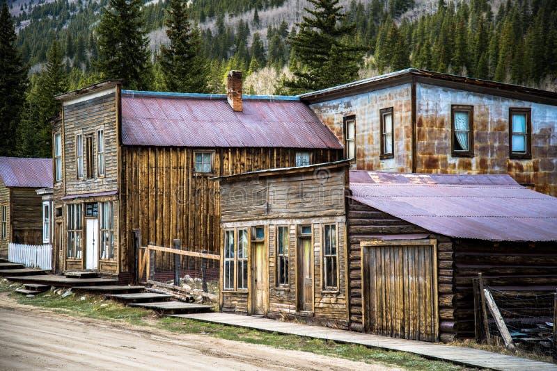 St Elmo Colorado Ghost Town imagenes de archivo