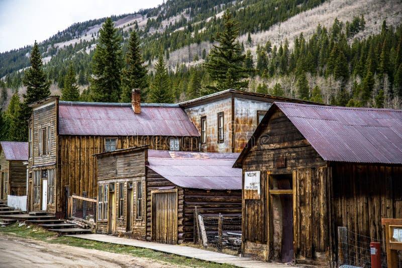 St Elmo Colorado Ghost Town foto de archivo
