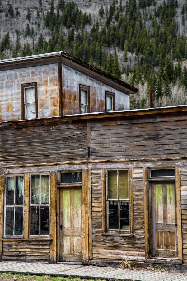 St Elmo Colorado Ghost Town - edificios abandonados imagenes de archivo