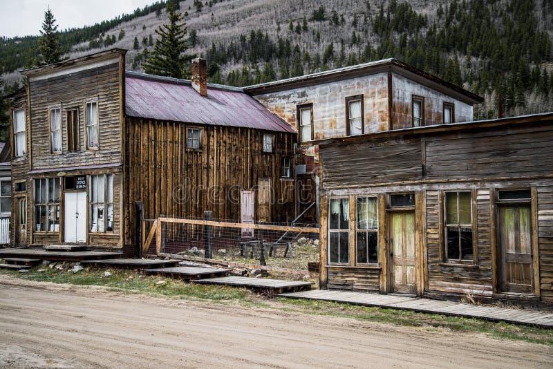 St Elmo Colorado Ghost Town - edificios abandonados foto de archivo libre de regalías