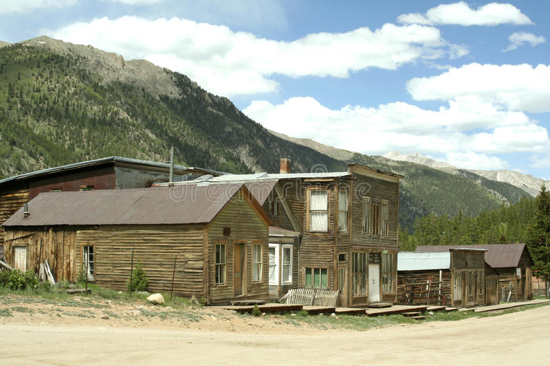 St. Elmo Ghost Town. Abandoned buildings in Saint Elmo Ghost town. St. Elmo is Colorado's best-preserved ghost town and a popular tourist attraction stock photography