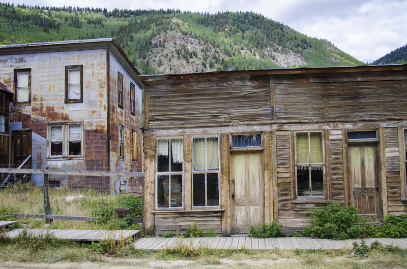 St Elmo Ghost Town in Colorado and Gold town. St. Elmo is a ghost town in Chaffee County, Colorado, United States. Founded in 1880. Nearly 2,000 people settled stock photo