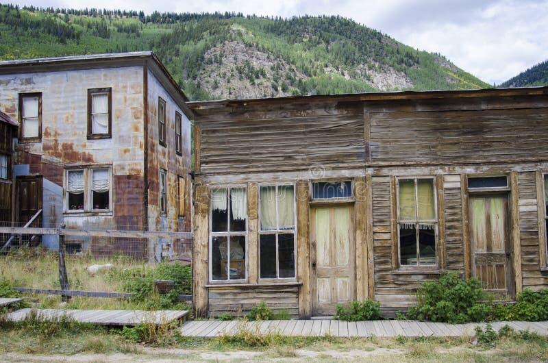 St Elmo Ghost Town en la ciudad de Colorado y del oro foto de archivo