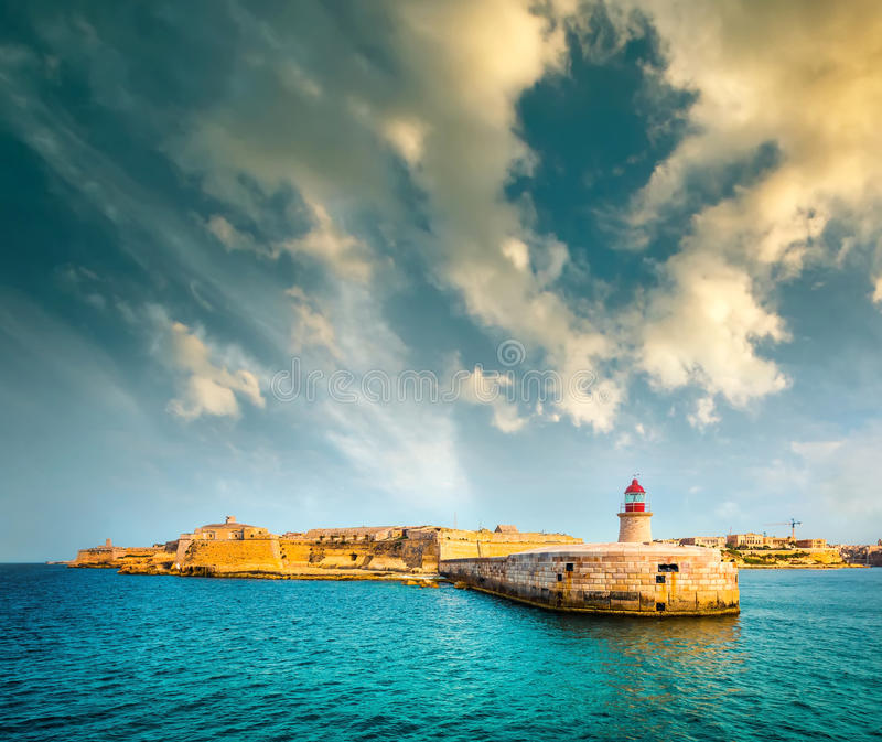 St. Elmo Lighthouse in Valletta royalty free stock images