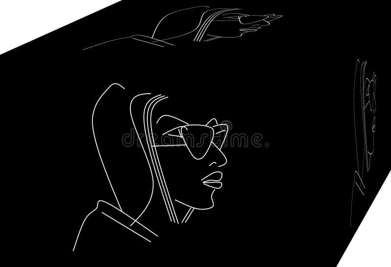 St?ende av en kvinna vektor illustrationer
