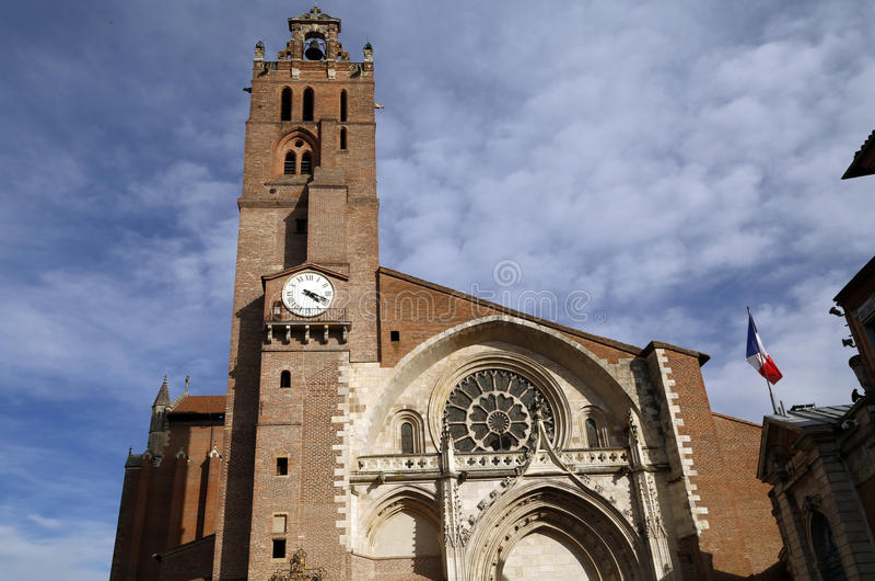 St.- Etiennekirche in Toulouse stockfoto