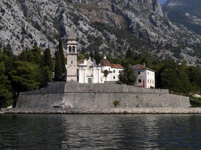 St. Eustace Church in Dobrota, Kotor, Montenegro stockfotos