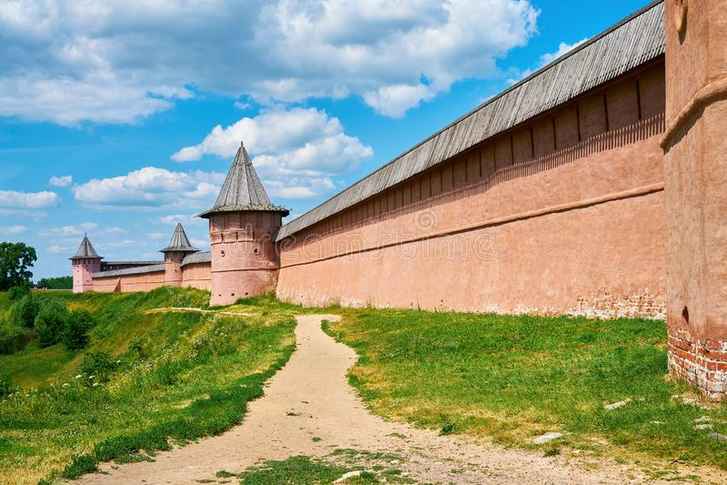 St Euthymius Klooster Gouden Ring van Rusland, oude stad van Suzdal, Vladimir-gebied, Rusland stock foto