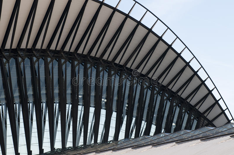 St Exupery Airport. Building in Lyon, France stock image