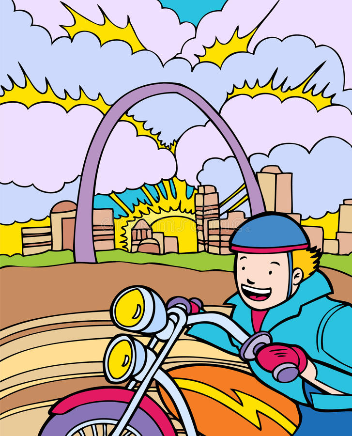 st för ritt för affärsföretagungelouis motorcykel vektor illustrationer