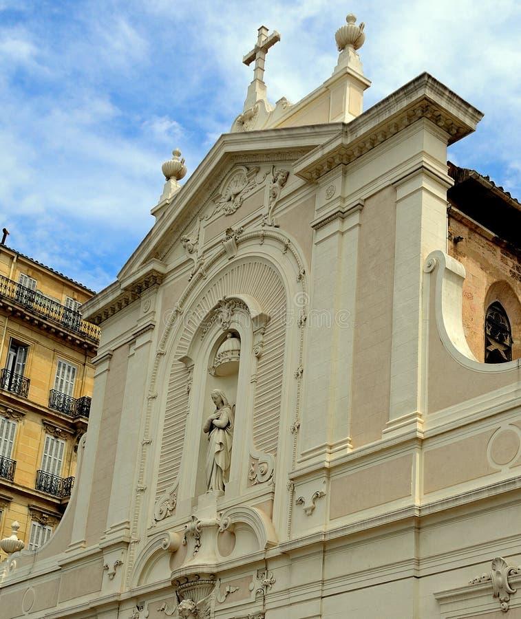 St Ferreol教会,马赛,法国 免版税库存照片