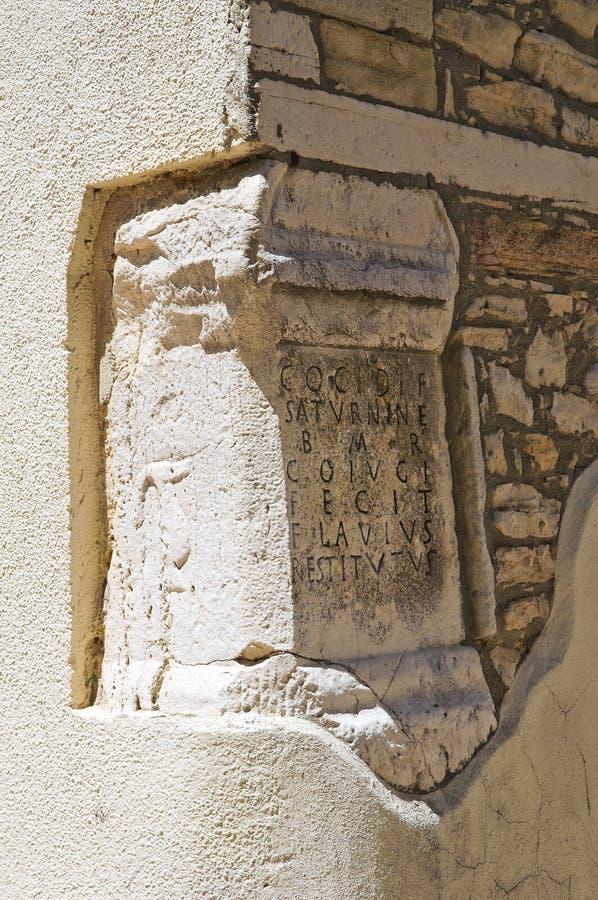 St Filippo Neri Oratory. Roseto Valfortore. La Puglia. L'Italie. images libres de droits