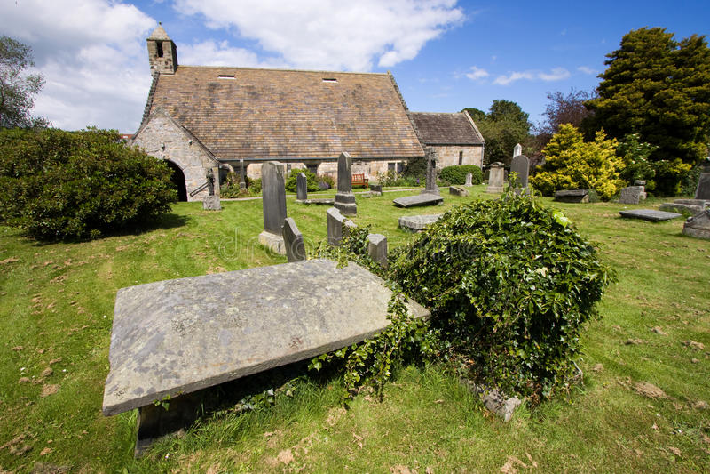 St Fillan Kerk, Aberdour, Fife stock foto