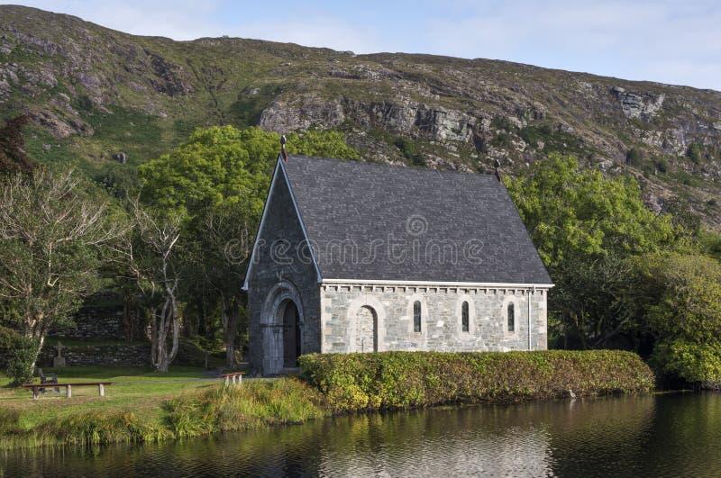 St Finbarr krasomówstwo przy Gougane Barra - litte irlandzki kościół, Macroom, okręgu administracyjnego korek, Irlandia zdjęcia royalty free
