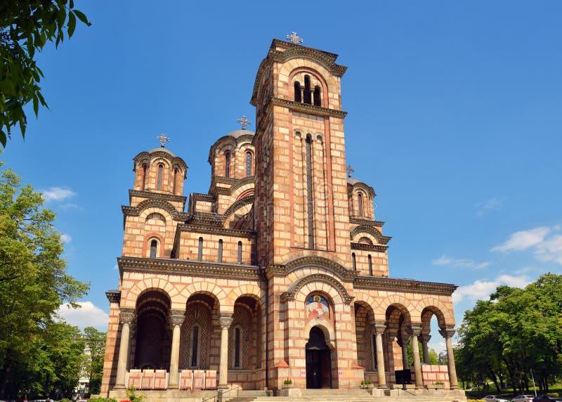 St-fläckar kyrka, Belgrade, Serbien fotografering för bildbyråer