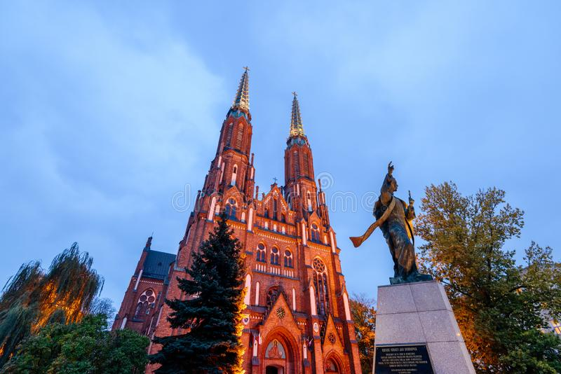 St. Florian`s Cathedral in Warsaw. royalty free stock photos