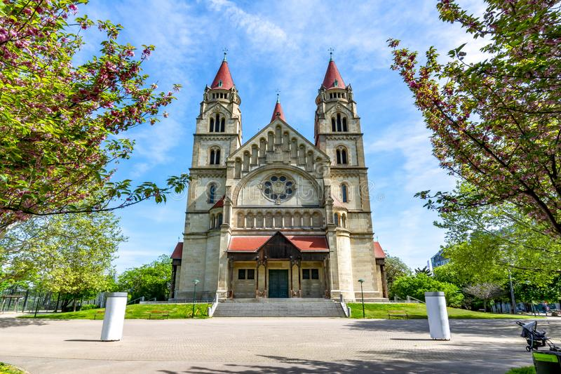 ST Francis της εκκλησίας Assisi, Βιέννη, Αυστρία στοκ φωτογραφίες με δικαίωμα ελεύθερης χρήσης
