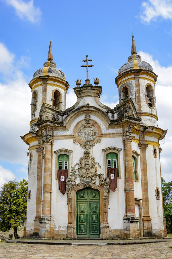 St. Francis of Assisi church facade stock image