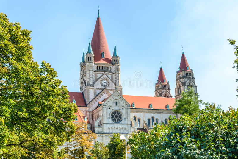 St. Francis of Assisi Church, Vienna stock image