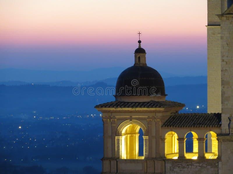 St. Francis Basilica Assisi stockfotos