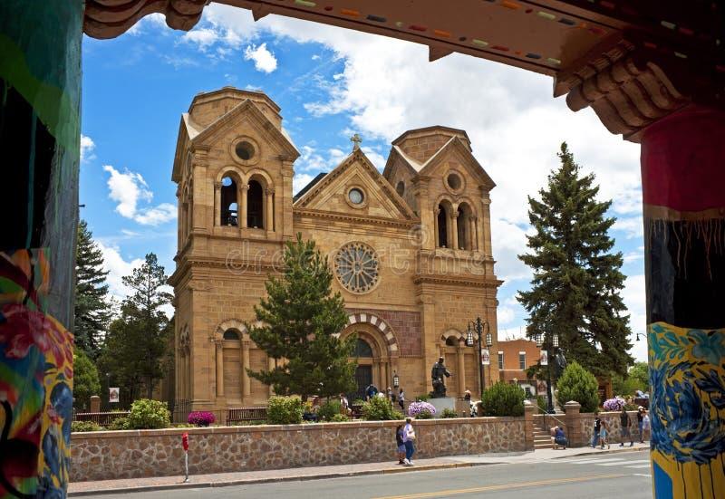 St Francis Cathedral, Santa Fe som är ny - Mexiko royaltyfri foto