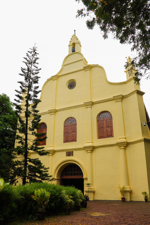 St Francis Church in Cochin(Kochin). This is a Portuguese style church.Kochin located in southern India, known as the Arab seafood, is a sea port city, although royalty free stock photography