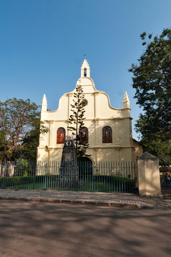 St. Francis Church in Fort Kochi. St. Francis Church is the oldest European church in India. Fort Kochi. Kerala stock photography