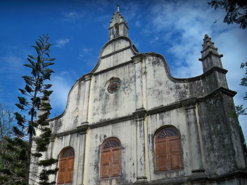 St Francis Church, forte Kochi, Índia imagens de stock