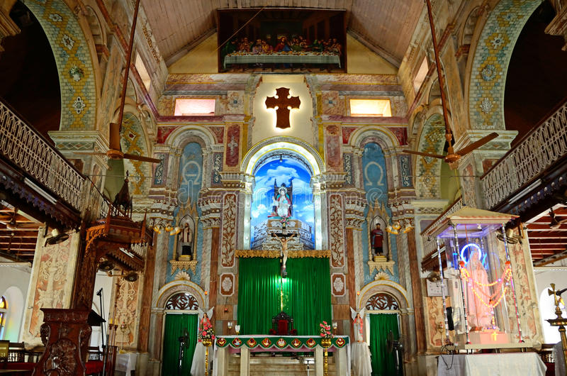 St. Francis Church. In Kochi,India royalty free stock photo