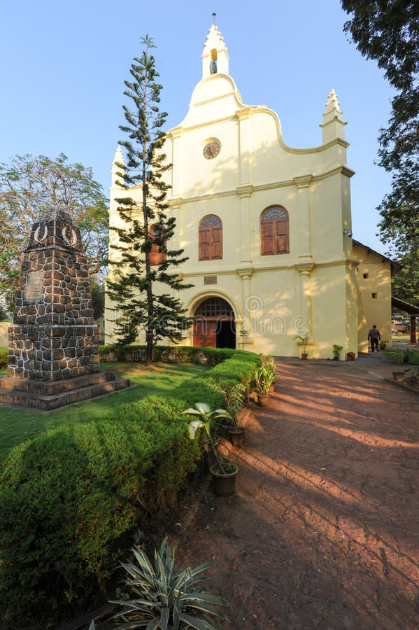 St. Francis church is the oldest built on India. And is located at Fort Cochin royalty free stock photos