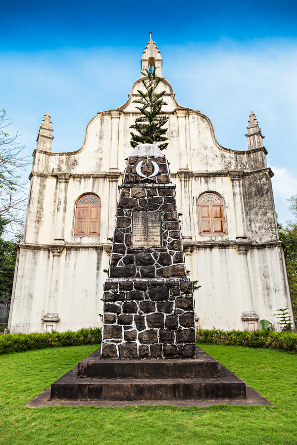 St. Francis Church. Tomb at St. Francis Church, place where Vasco De Gama died, Cochin, India stock image