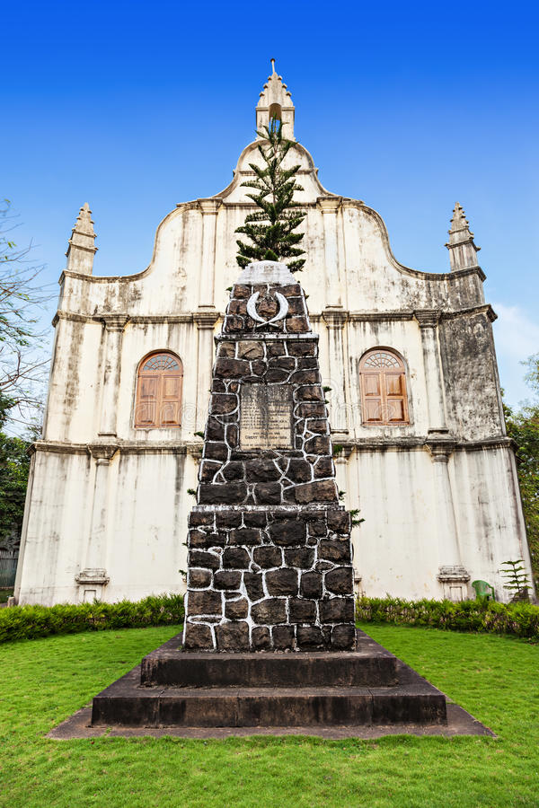 St. Francis Church. Tomb at St. Francis Church, place where Vasco De Gama died, Cochin, India stock photo