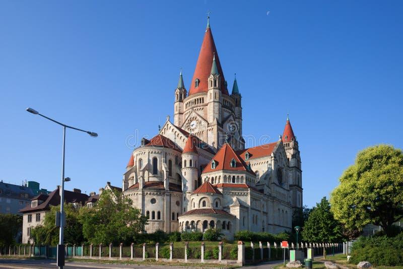 St Francis d'église d'Assisi à Vienne images libres de droits