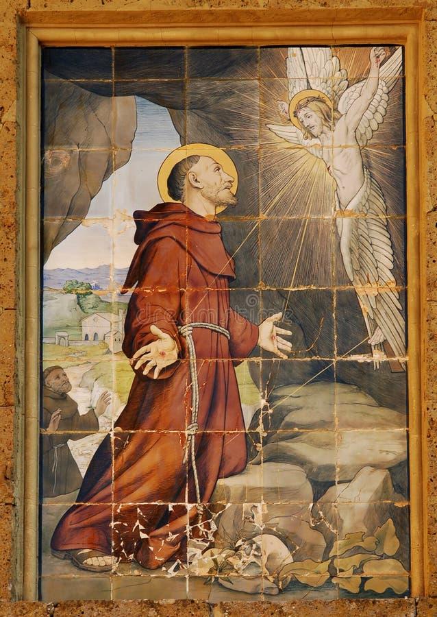 St. Francis Invoking Jesus Royalty Free Stock Photo
