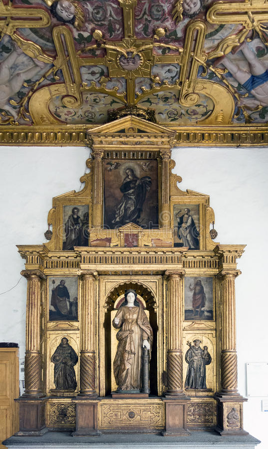 St. Francis klasztor w Quito i kościół, Ekwador obrazy stock