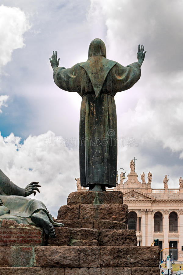 St. Francis in Rome stock photos