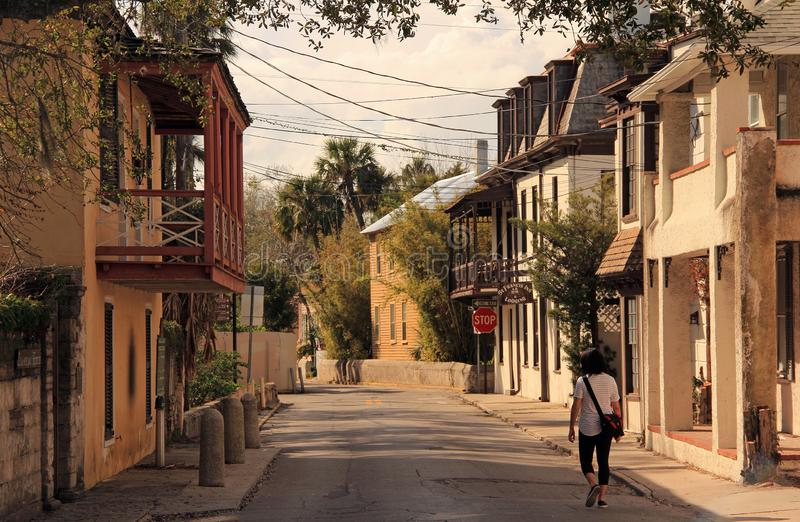 St. Francis Street Colonial Residences royalty free stock photo