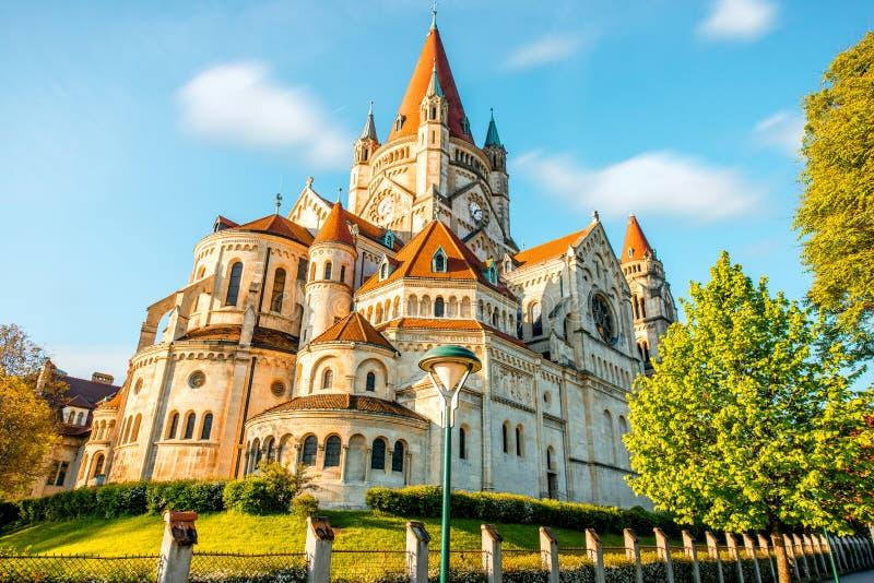 St Francis van Kerk Assisi in Wenen royalty-vrije stock afbeeldingen
