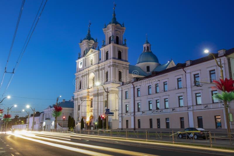 St. Francis Xavier Cathedral in Grodno stockfotografie